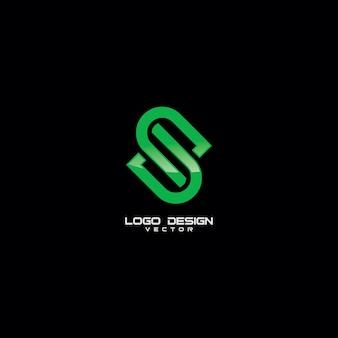 S símbolo logotipo modelo vector
