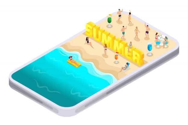 S verão, letras, fonte, inscrição, aplicativo de smartphone para encontrar ibiza, entretenimento, passeios, recreação, o mar, lindas meninas em trajes de banho