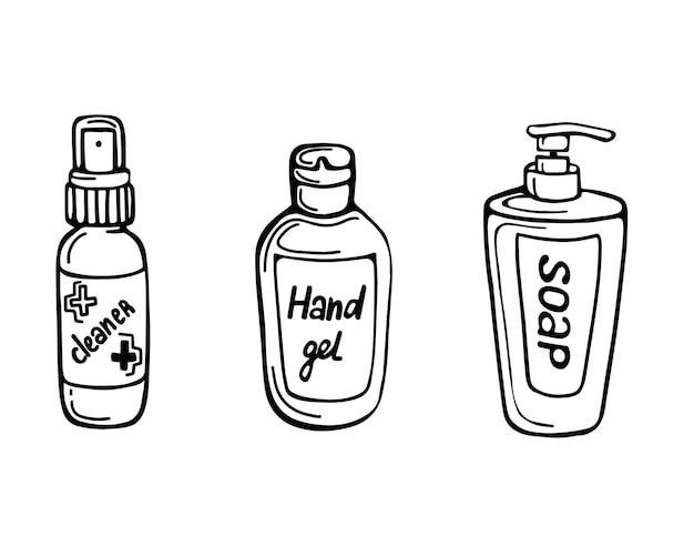 Sabonete desinfetante e desinfetante para as mãos