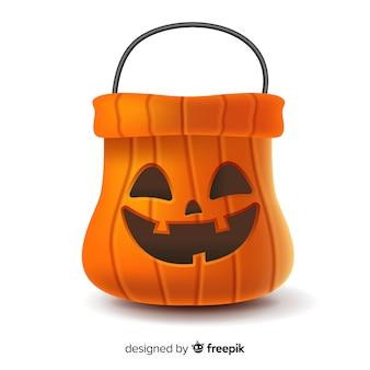 Saco de abóbora de halloween realista