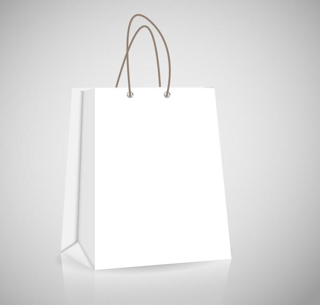 Saco de compras vazio para publicidade e branding vector illustra