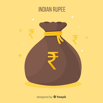 Saco de dinheiro de rúpia indiana
