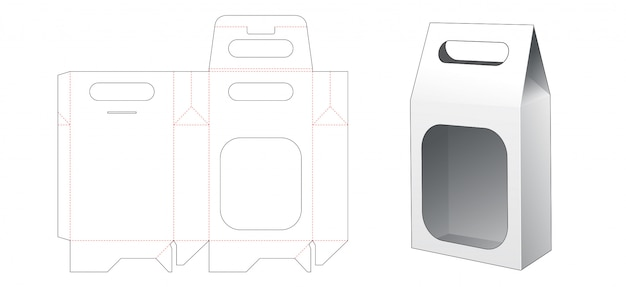 Saco de embalagem de lanche com modelo de suporte cortado