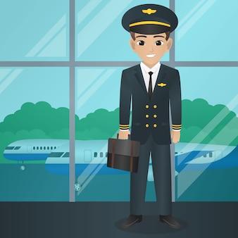 Saco de exploração piloto masculino