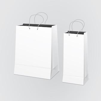 Saco de papel em branco
