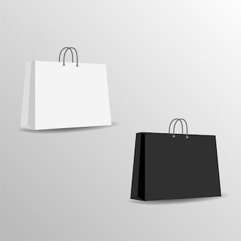 Saco de papel mock up modelo vector