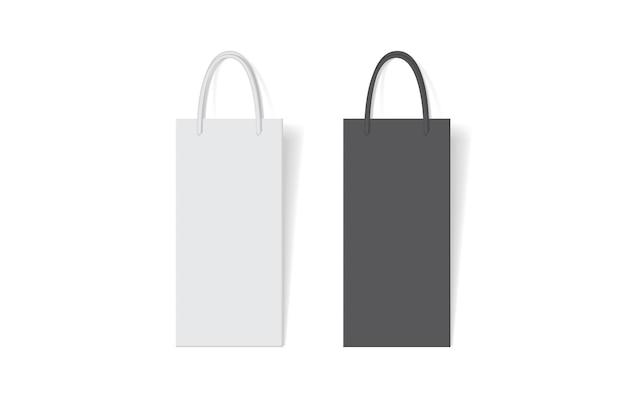 Saco de papel para álcool no fundo branco