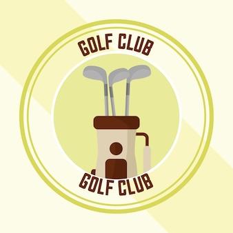 Saco do campeonato do clube de golfe com varas