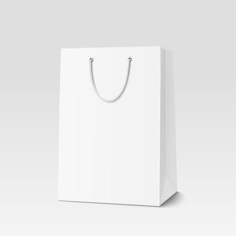 Sacola de compras vazia para publicidade e branding