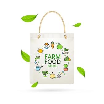 Sacola de produtos agrícolas