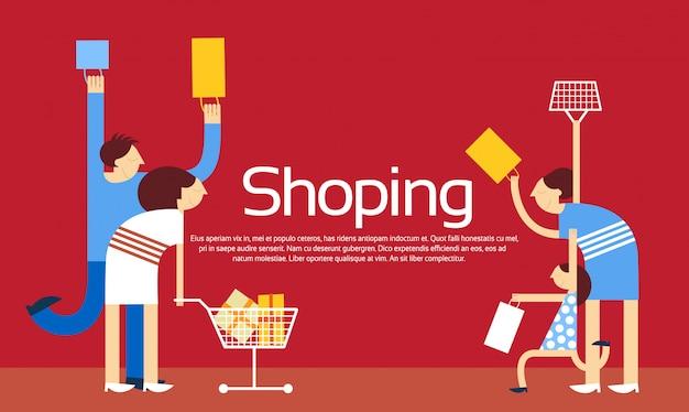Sacos de compras da família trolley sale discount