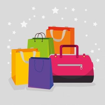 Sacos de compras e bolsas para venda especial