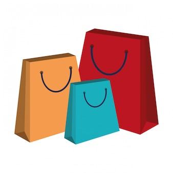 Sacos de compras isolados
