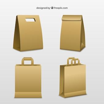 Sacos de papelão