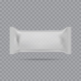 Sacos de travesseiro de lanche comida realista. brincar. vetor