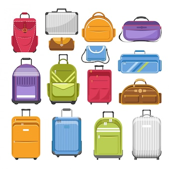 Sacos diferentes tipos de modelos de mala de viagem