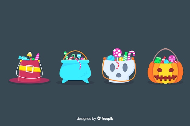 Sacos pequenos bonitos para doces de halloween