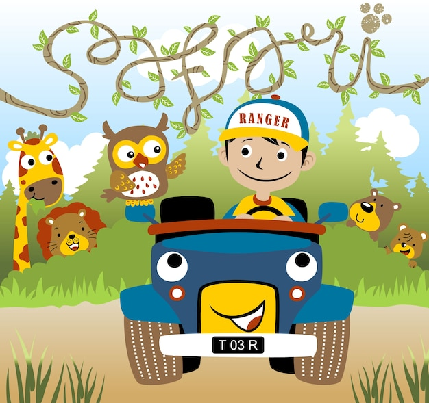 Safari park cartoon vector