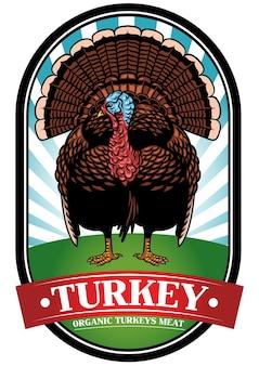 Safra de design de distintivo de turquia