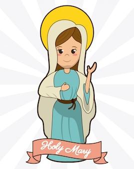 Sagrada maria devoção espiritualidade fé imagem