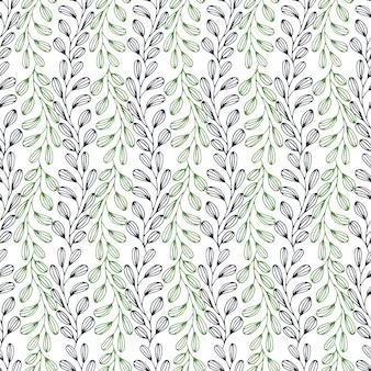 Sai do padrão sem costura. fundo do vetor da natureza. pode ser usado para embalagens, têxteis, papel de parede e design de pacotes