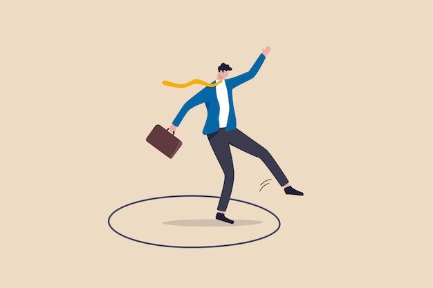 Saia da zona de conforto ou zona segura, ouse seguir seu próprio caminho ou tente sair do trabalho de rotina