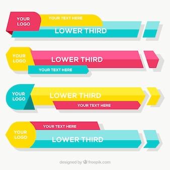 Saias coloridas em design plano