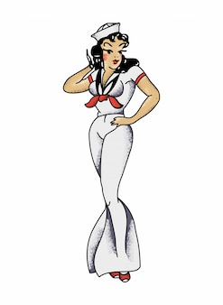 Sailor jerry's sailor girl