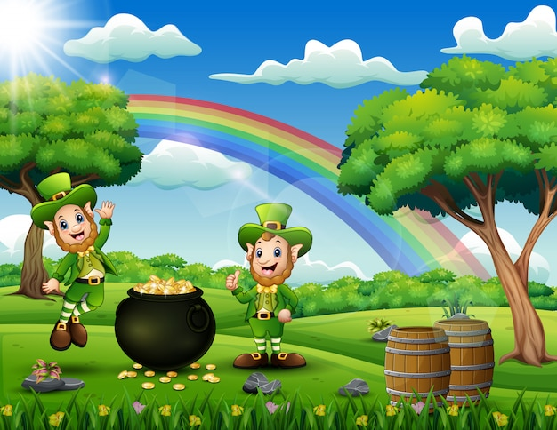 Saint patricks day backround com duendes