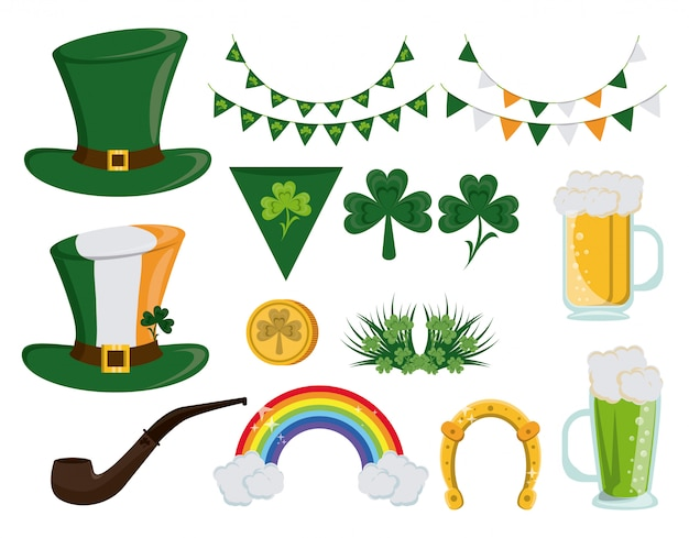 Saint patricks day ícones