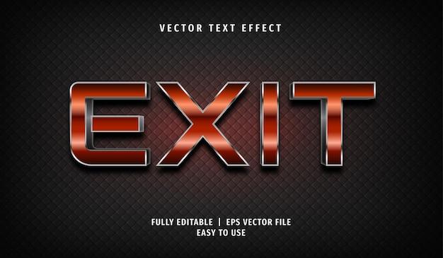 Sair do efeito de texto, estilo de texto editável