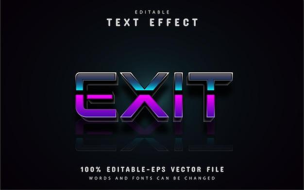 Sair do efeito de texto gradiente