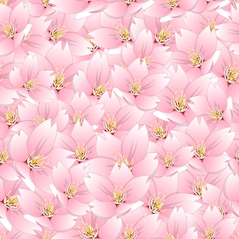 Sakura flor de cerejeira sem costura de fundo