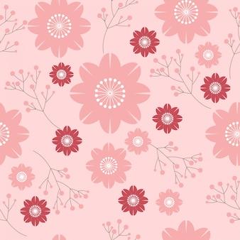 Sakura flor padrão sem emenda