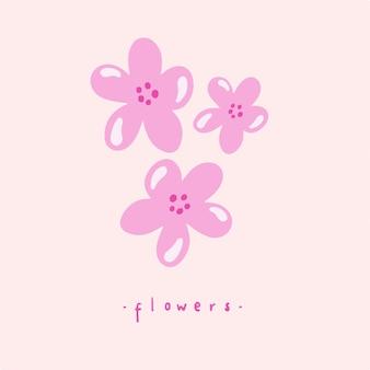 Sakura rosa flores símbolo flora ilustração em vetor botânico
