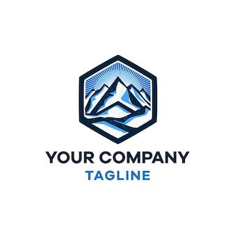 Sal no modelo de logotipo moderno de montanha
