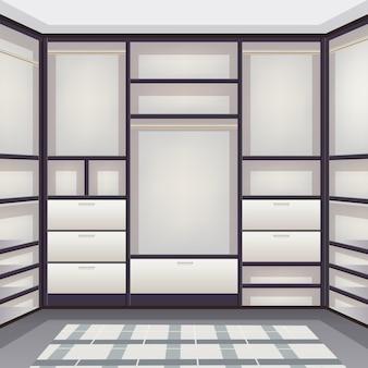 Sala de armazenamento vazia realista