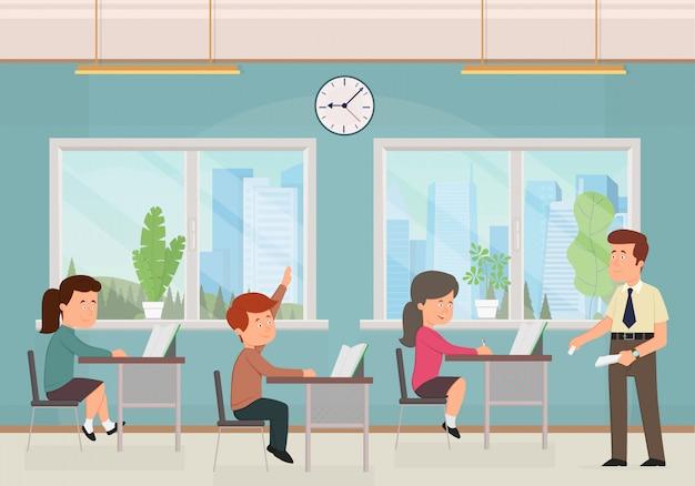 Sala de aula com crianças.