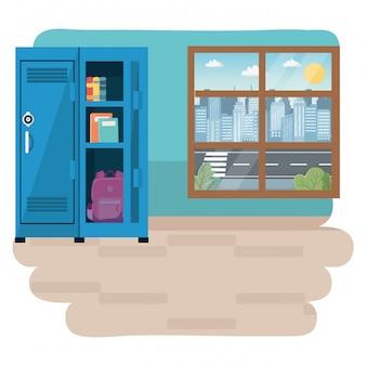 Sala de aula da escola design ilustração vetorial