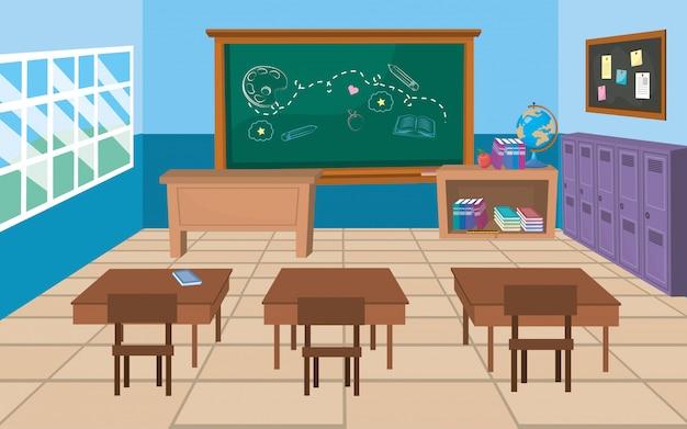 Sala de aula da escola