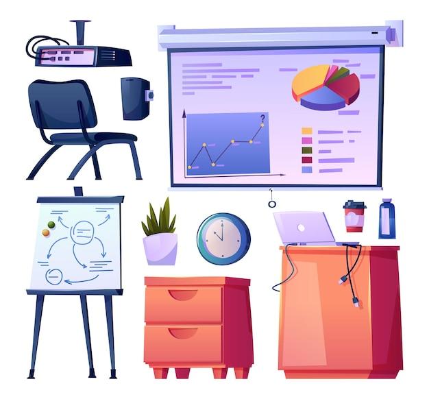 Sala de aula escolar moderna ou design de interiores de escritório