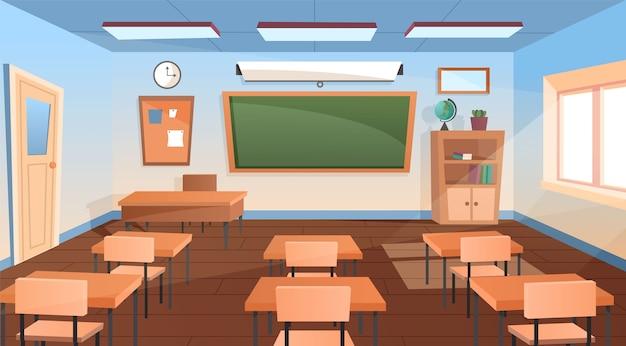 Sala de aula moderna vazia e ele interior