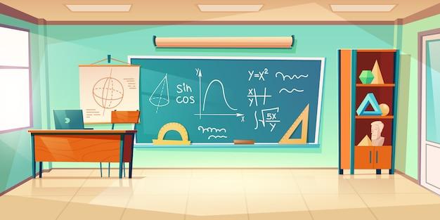 Sala de aula para aprender matemática