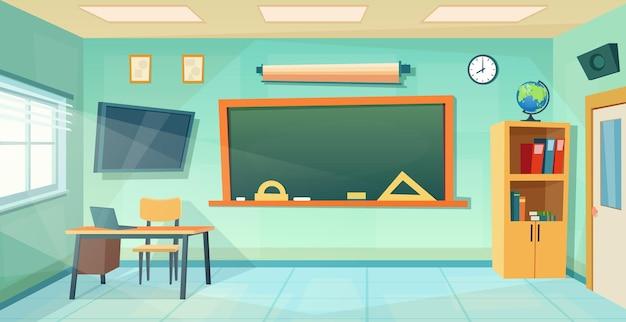 Sala de aula vazia. fundo de educação escolar.