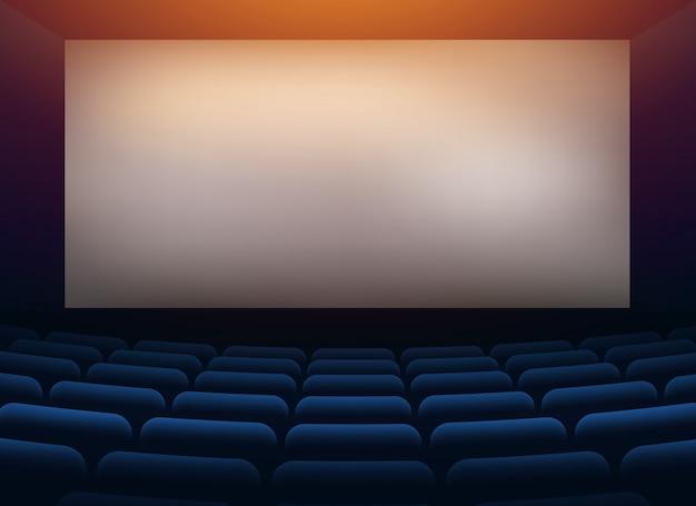 Sala de cinema com parede de projeção