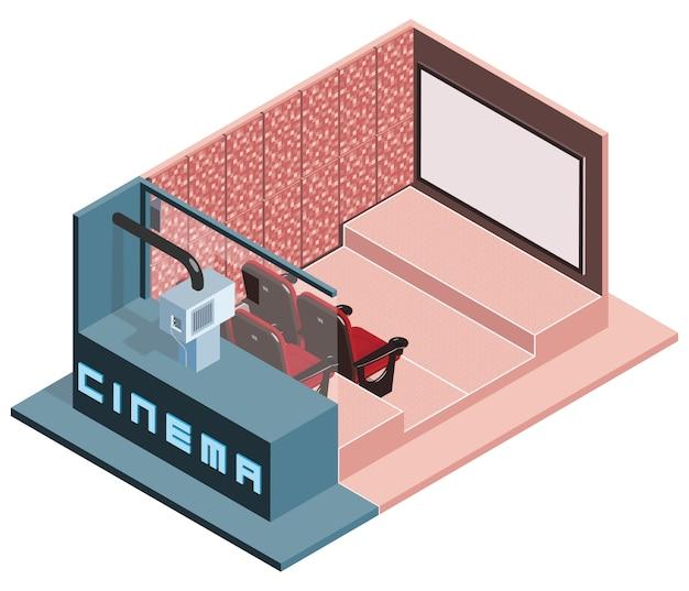Sala de cinema isométrica