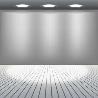 Sala de cinza com luzes