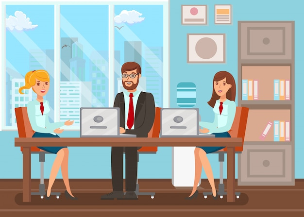 Sala de conferência meeting flat