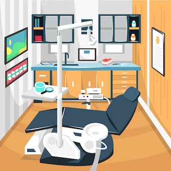 Sala de dentista dental care concept hospital