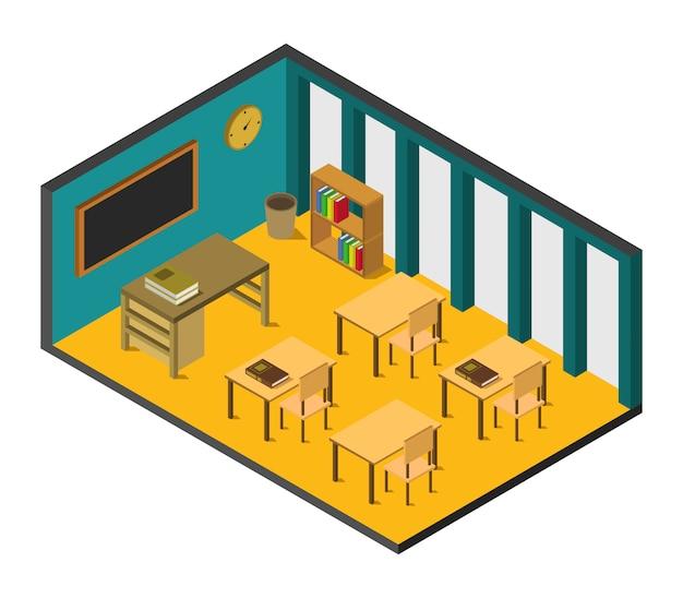 Sala de escola isométrica